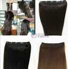 "20""100G Clip-in 100% remy human hair extensions one piece full head 1pc 100g"