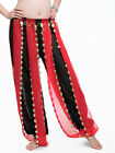 New Belly Dance Costume Chiffon Tribal Bloomers pants with Gold Coins 4 colours