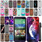 For HTC Desire 510 Design TPU SILICONE Rubber SKIN Soft Case Phone Cover + Pen