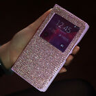 Super Bling Diamond View Leather Case Cover For Samsung Galaxy Note 4 N9100 3 S5
