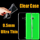 Ultra Thin Crystal Clear TPU Gel Transparent Back Case Cover For Nokia Phones