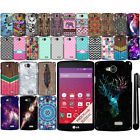 For LG Tribute LS660 F60 Transpyre Design TPU Silicone Case Phone Cover + Pen