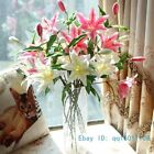 1 PCS Artificial Fake Lily Silk Flowers Home Wedding Decoration Gift F133