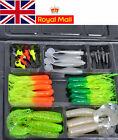 New Fishing Lures Bait Tackle Soft Small Jig Head Box Set Lots Simulation Suite