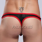Men Sexy Underwear Thong Bulge Pouch Holes T-Back Bikinis Posing Strap String US