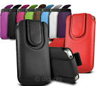 COLOUR (PU) LEATHER MAGNETIC BUTTON PULL TAB POUCH FOR ALCATEL POP 2 MOBILES
