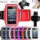 NEW SPORTS RUNNING JOGGING GYM ARM BAND CASES COVER POUCH FOR APPLE iPHONE 5 5S