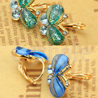 New Style Women Hot Elegant Crystal Rhinestone Butterfly Ear Studs Earrings WS