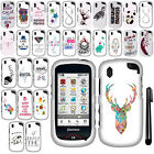 For Pantech Hotshot CDM8992 Art Design PATTERN HARD Case Phone Cover + Pen