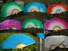Various patterns, 1 pair 30+10 handmade Chinese dance silk flutter fan+carry bag