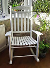 NEW WHITE FARMHOUSE ROCKING CHAIR  BED LIVING ROOM CONSERVATORY MATERNITY