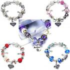 Finished Mothers Day Gift Box Charm Bracelets Selection of Mum Charms Beads
