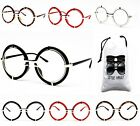 E17-VP OVERSIZED ROUND CIRCLE METAL VINTAGE CLEAR LENS EYEGLASSES SUNGLASSES