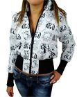 NEW ED HARDY CHRISTIAN AUDIGIER WOMEN'S SHORT PUFFER JACKET LOVE KILLS WHITE