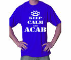 15-134 Shirt Tee S-5XL royal blau Schlagring Knuckle Keep Calm and ACAB