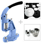 Professional button making press cover machine + 2 free dies & 100 buttons  S026