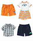 NWT Gymboree Size 12-18 m 2Pc Set Bodysuit Shorts Button Shirt Plaid Fish