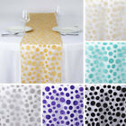 "15 pcs 14x108"" Sheer Organza TABLE RUNNERS Velvet Dots Wedding Party Linens SALE"