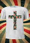 Rose Cross Floral Flower Christian Swag Dope Indie T Shirt Men Women Unisex 1764