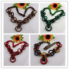 Assorted Handmade Coconut Shell Circle Round Beads Necklace Optional