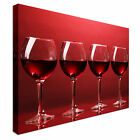 Wine glasses in a row Canvas Art Cheap Wall Print Home Interior