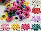 50 100Pcs Sunflowers Daisy 3 inch Artificial Silk Flower Heads Wholesale Lots