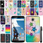 For Motorola Google Nexus 6 Cute Design PATTERN HARD Case Back Phone Cover + Pen