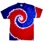 Red White Blue, Tie Dye T-Shirts, Youth XS 2-4 to Youth L 14-16, 100% Cotton