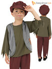 Age 4-9 Boys Kids Victorian Peasant Orphan Oliver Fancy Dress Outfit Costume