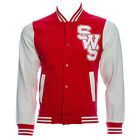 Official Sleeping With Sirens Unisex Red Varsity Jacket ALL SIZES - Band Merch