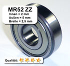 Radiales Rillen-Kugellager MR52ZZ - 2 x 5 x 2,5 mm