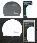 PRECISION SWIM SWIMMING CAP - SILICONE - ADULT - ONE SIZE - BLACK OR WHITE