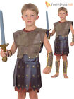 Kids Roman Warrior Soldier Gladiator Book Outfit Child Boys Fancy Dress Costume