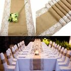 New Good Jute Rustic Burlap Lace Hessian Table Runner Wedding Table Decorations