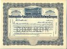 Indianapolis & Louisville Traction Railway Company Stock Certificate Indiana