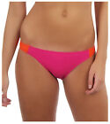 Roxy Juniors Seaswell Paneled Surfer Bikini Bottoms-Magenta/Orange