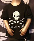 DOW kid's T-Shirt  Black,, sea shepherd, New big front Jolly Roger
