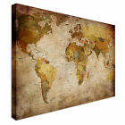 Retro Vintage Map Country Names Canvas Art Cheap Wall Print Home Interior