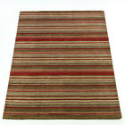 Modern Luxury Thin 100% Wool Autumnal Red Rug Warm Super Soft Durable Carpet Mat