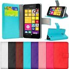 New Wallet Card Holder PU Leather Flip Case Cover For Nokia Lumia 630 635