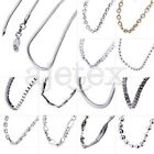 Hot 1x Ladies Women Fashion Jewelry 925 Sterling Silver Chain Necklace 45 Styles