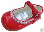 Girls Party Wedding Shoes Christening Diamante Buckle Infants 1,2,3,4,5,6,7,8