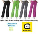 Wink Four-Stretch 5214 Sporty Cargo Scrub Pant All Sizes & Colors Free Shipping!
