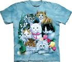Kittens Adults Tie Dye Cat Design T-Shirt by The Mountain - Sizes 14-28 NEW