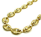 """26-40"""" 9mm 10k Yellow Gold Fancy Gucci Mariner Anchor Mens Chain Necklace"""