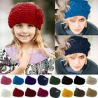 New Knitted Headband Women Crochet Winter Flower Ear Warmer Hairband Headwrap