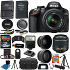 Nikon D3200 Digital SLR Camera 3 Lens Kit 18-55mm Lens + 32GB Best Value Bundle