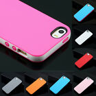 DUAL COLOR RUBBER GEL SOFT SILICONE SKIN BUMPER TPU CASE COVER FR IPHONE 4 5S 5C