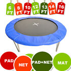 TRAMPOLINE SAFETY NET ENCLOSURE SURROUND PADDING PADS 8ft/10ft/12ft/13ft/14ft