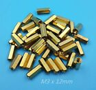 50Pcs Brass Hexagonal Female Nut M3 x 4/5/6/8/10/12mm PCB Board Standoff/Spacer